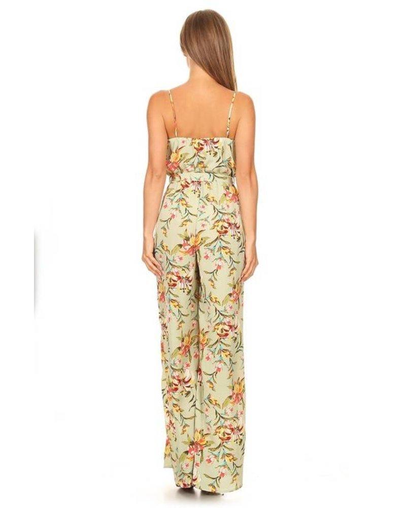 Sleeveless Floral Jumpsuit