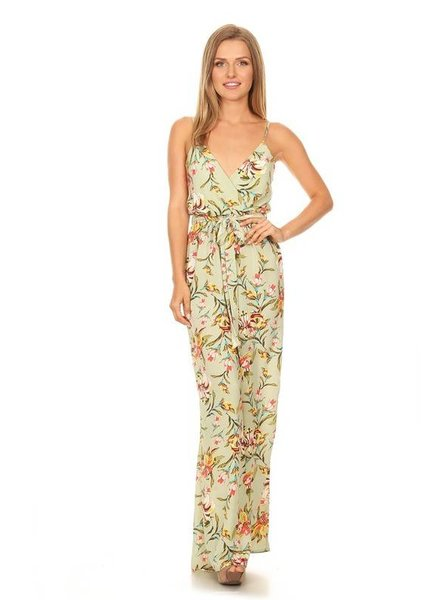 Sleeveless Floral Jumpsuit