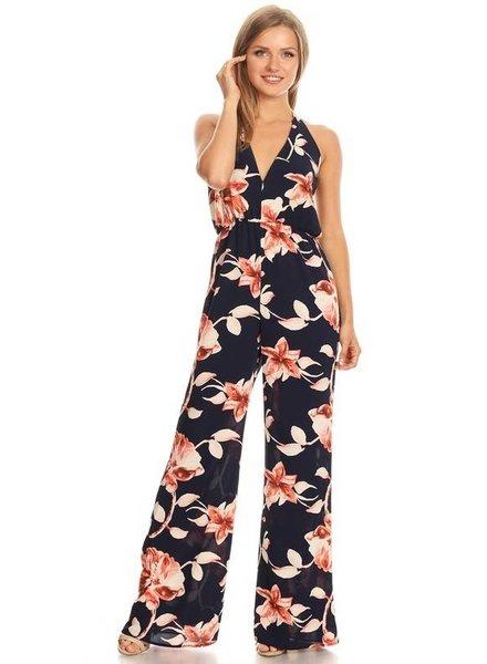 Floral Halter Jumpsuit