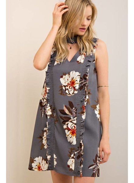 Floral Mock Shift Dress