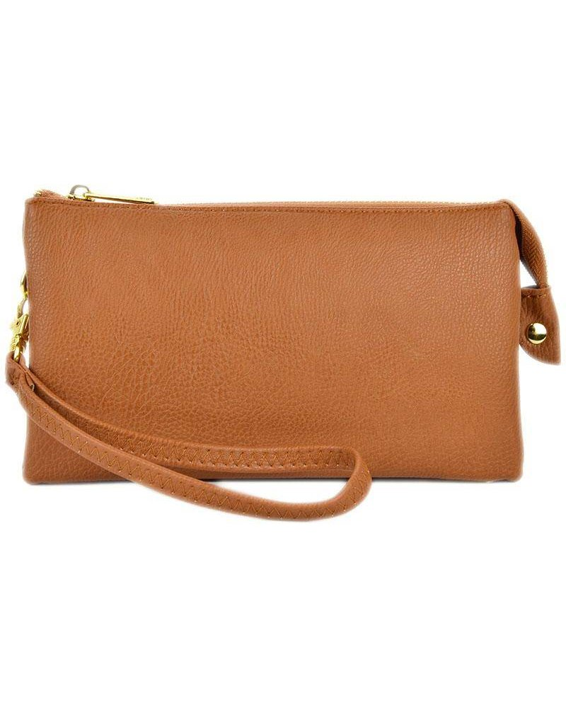 Solid Wristlet Crossbody Bag