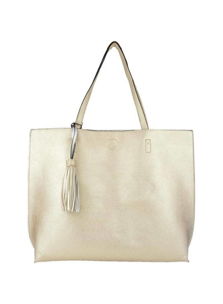Becca Reversible Tote in Rosegold Silver