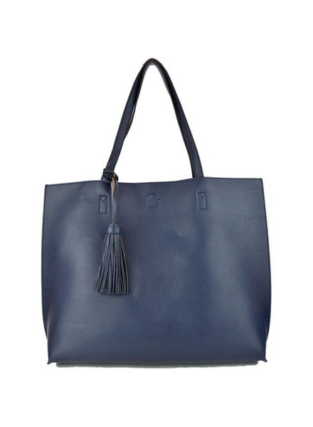 Becca Reversible Tote in Navy Khaki