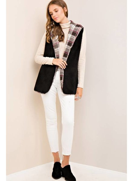 Reversible Plaid Vest