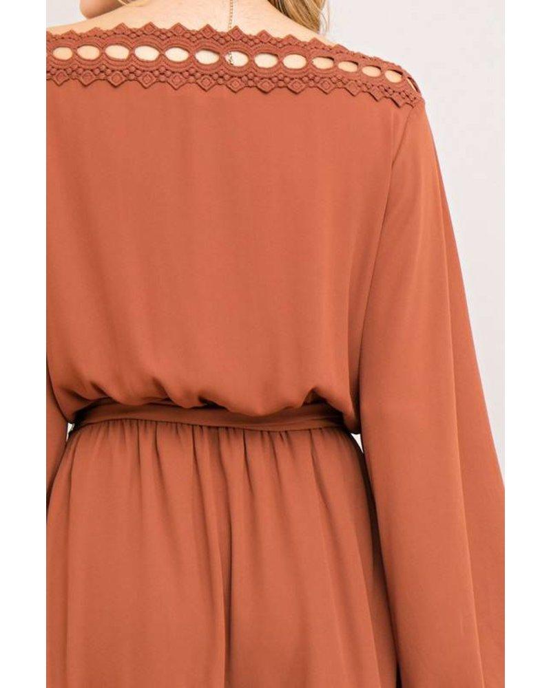 Crochet Chiffon Dress