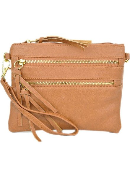 Four Zip Crossbody Wristlet