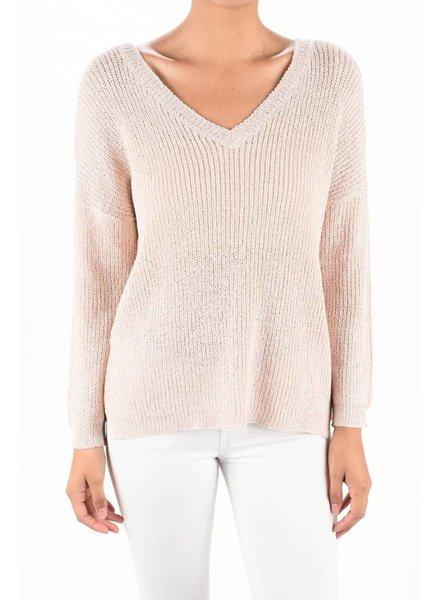 Open V Back Sweater