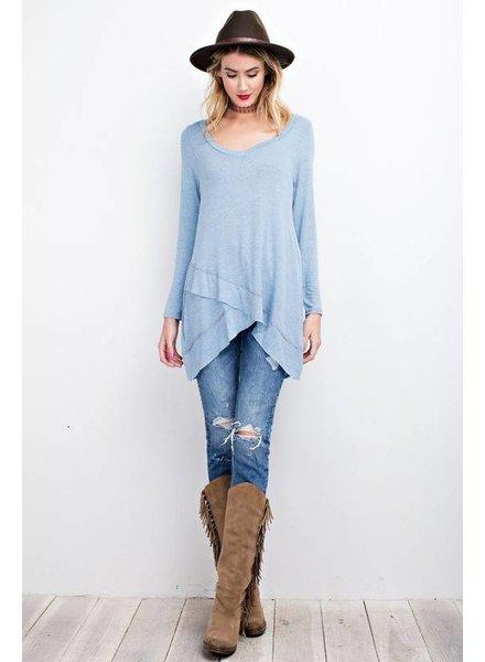 Overlay Knit Tunic