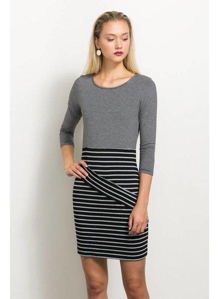 Patch Stripe Dress