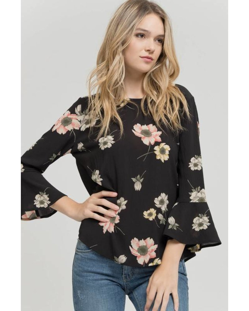 Woven Floral Top