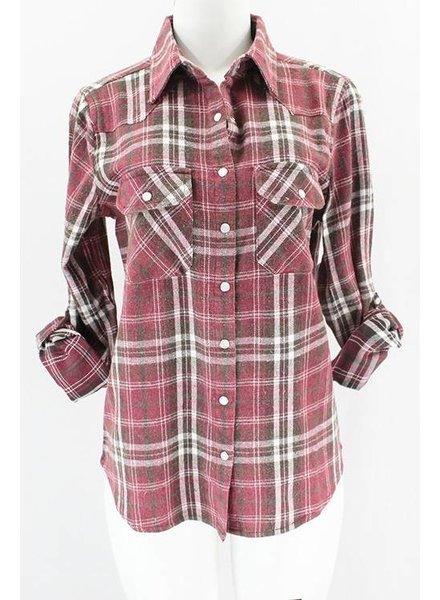 Snap Flannel Top