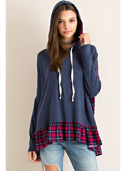Hooded Flannel Top