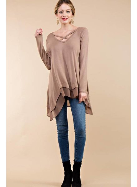 Criss Cross Tunic Top