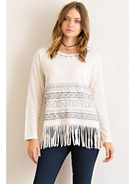 Fringe Aztec Top