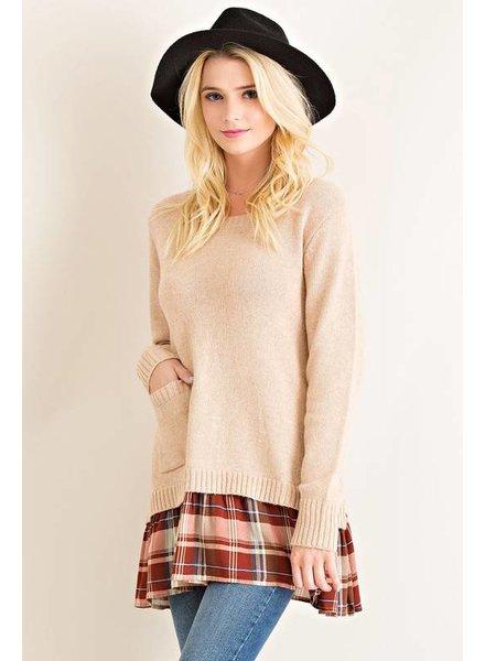 Plaid Sweater Tunic