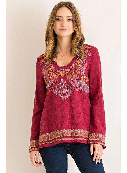 Western Long Sleeve Top