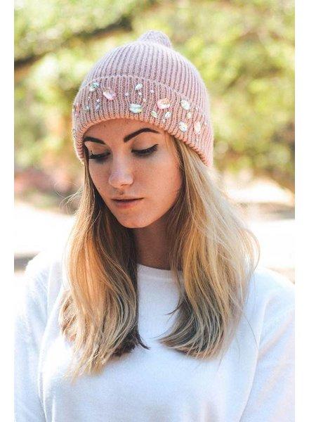 Jeweled Knit Beanie