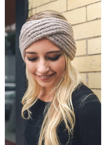 Cross Over Knit Headband
