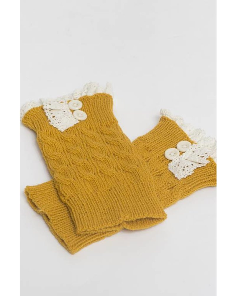 Cable Knit Boot Cuff