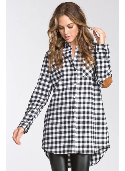 Patch Flannel Tunic