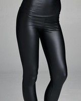 High Waist Pleather Legging