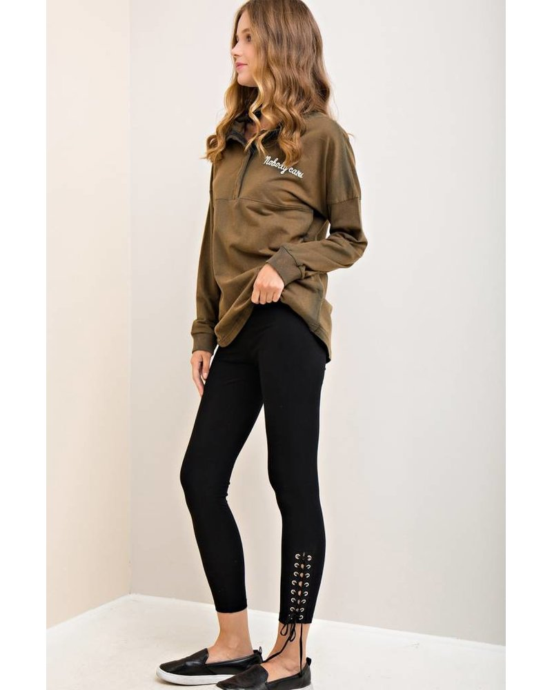 Lace Up Ankle Legging