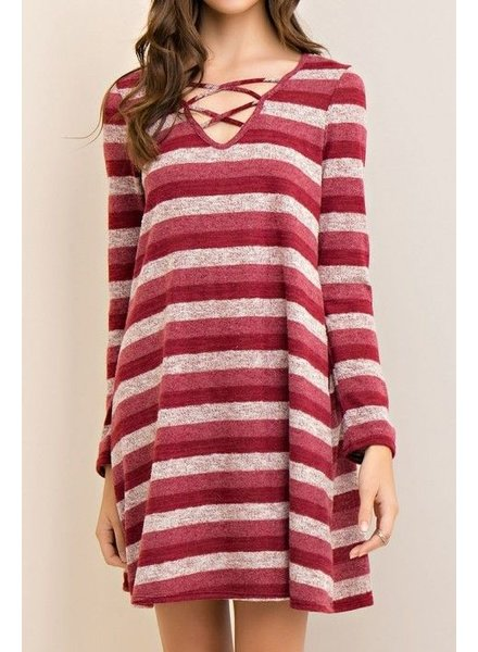 Cutout Stripe Dress