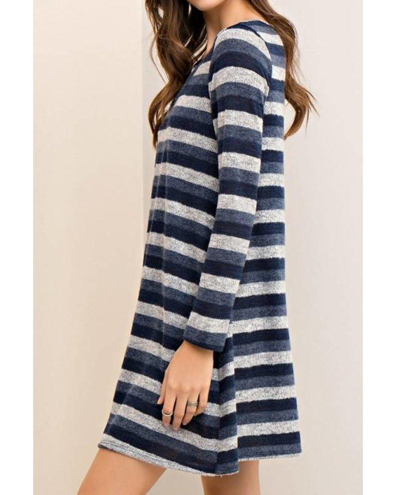 Cutout Stripe Dress