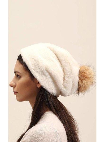 Furry Pompom Hat