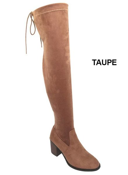 Chunky Suede Tie Boot