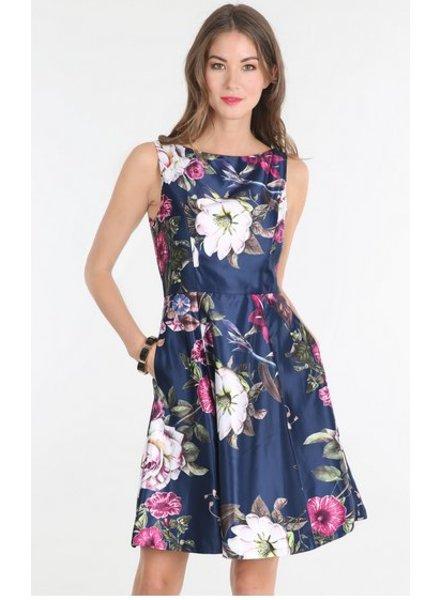 Floral Print Satin Dress