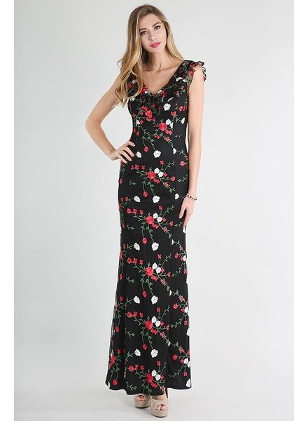 Floral Embroidered Maxi