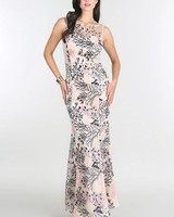 Coral Reef Embroidered Maxi