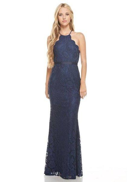 Lace Scallop Maxi Dress
