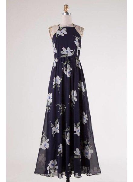 Strappy Floral Print Maxi Dress