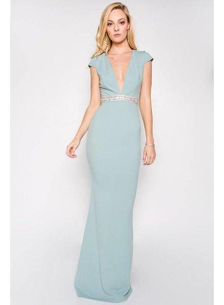 Short Sleeve Mermaid Maxi Dress