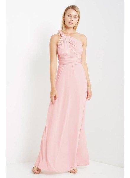 Multi Wrap Maxi Dress in Blush