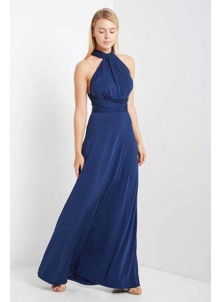 Multi Wrap Maxi Dress in Navy