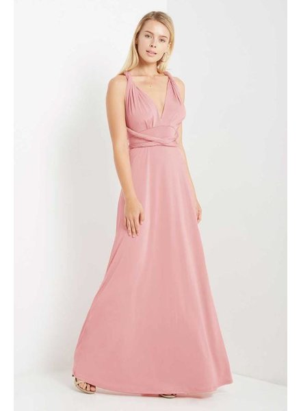 Multi Wrap Maxi Dress in Rose