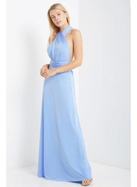 Multi Wrap Maxi Dress in Sky