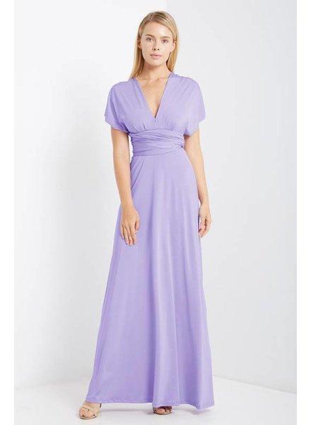 Multi Wrap Maxi Dress in Lavender
