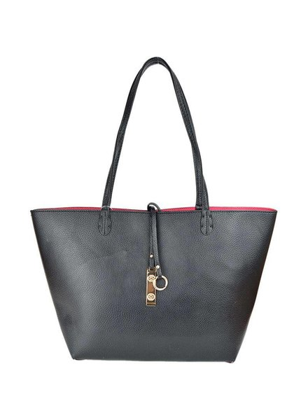 Payton Reversible Tote in Black Hot Pink