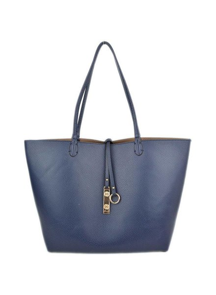 Payton Reversible Tote in Navy Khaki