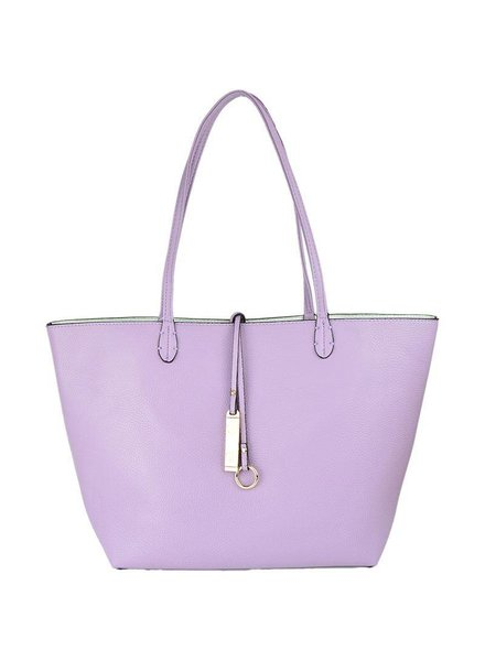 Payton Reversible Tote in Light Purple White