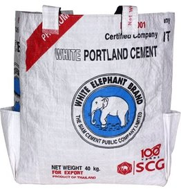 Malia Designs White Cement Tote Bag