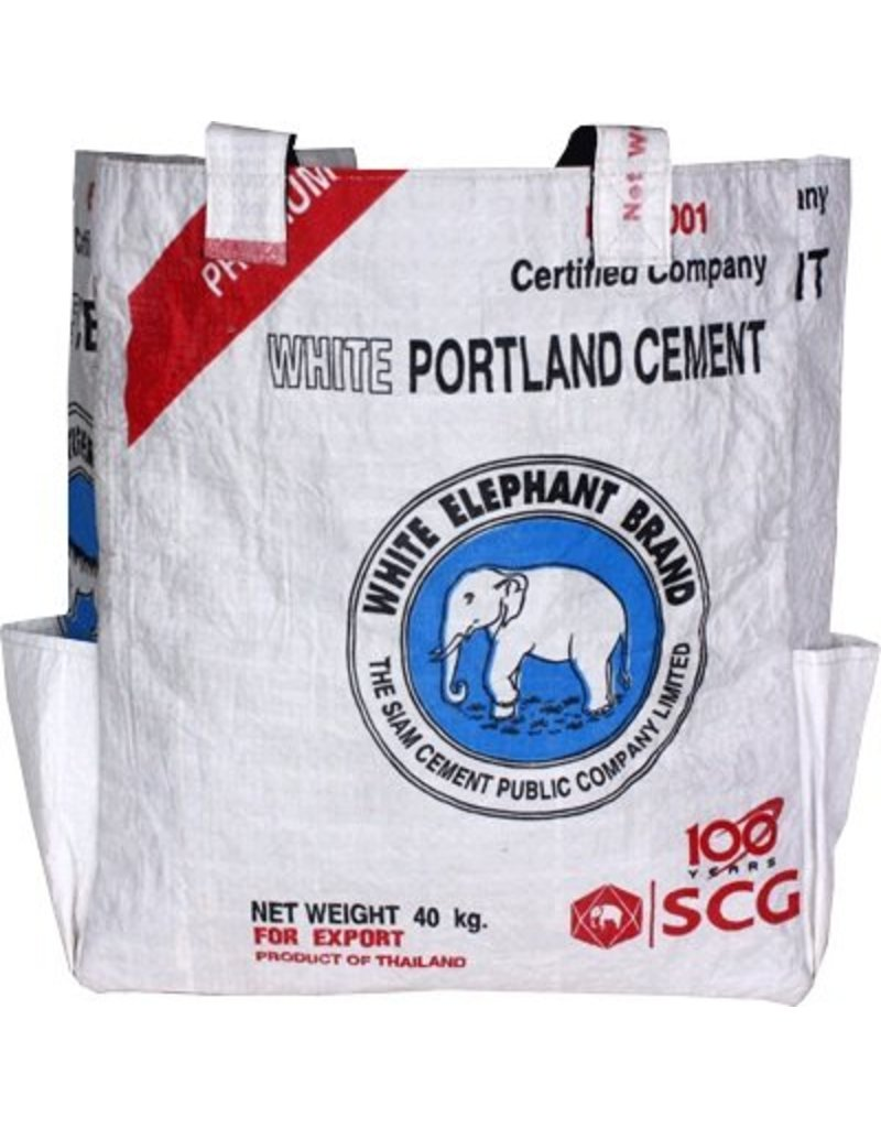 Malia Designs White Cement Tote Bag
