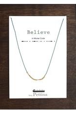 beq Pettina Morse Code Necklace