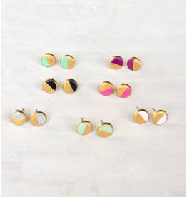 Jill Makes Colorblock Earring Studs