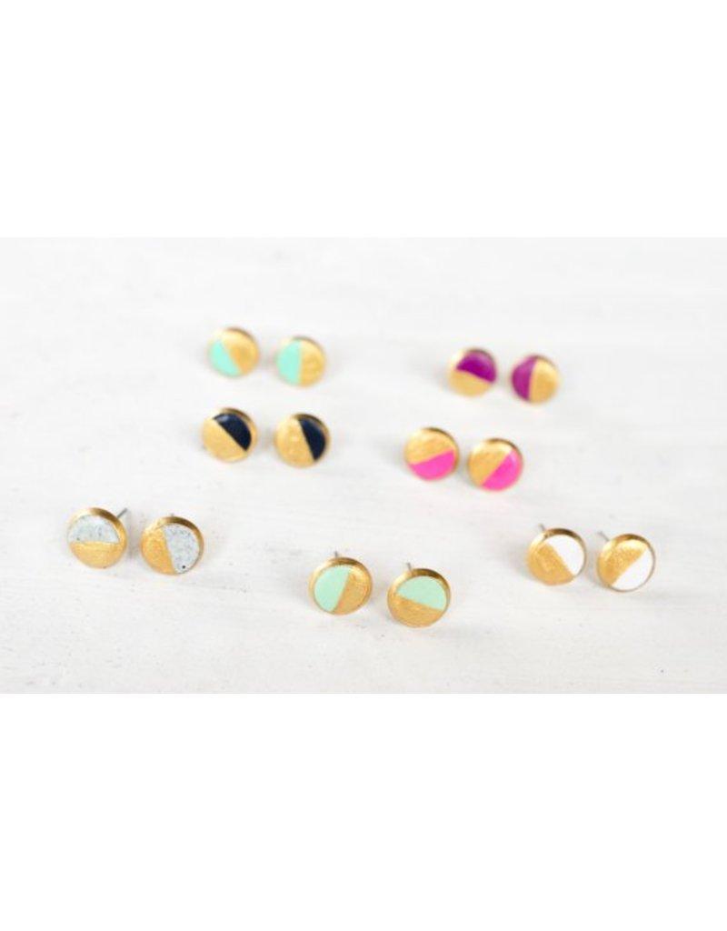 Jill Makes Colorblock Earring Studs