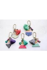 Jill Makes Charm Tassel Keychain